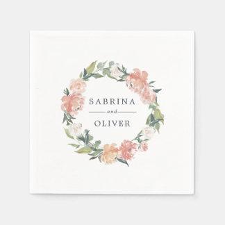 Guardanapo De Papel Casamento personalizado | botânico floral dos