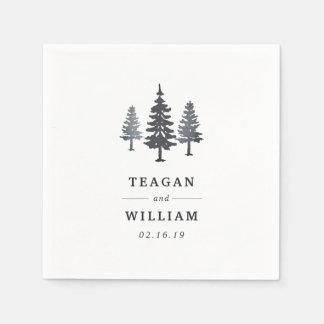 Guardanapo De Papel Casamento personalizado   da floresta do inverno