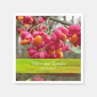 Guardanapo De Papel Casamento personalizado do fruto do eixo flores