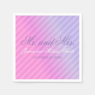 Guardanapo De Papel Casamento personalizado do rosa Pastel Lilac
