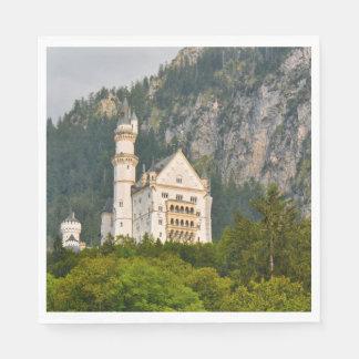 Guardanapo De Papel Castelo de Neuschwanstein em Baviera Alemanha