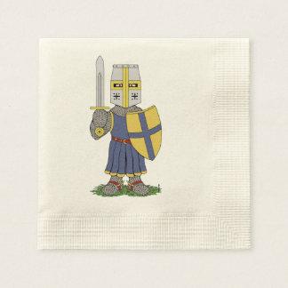 Guardanapo De Papel Cavaleiro medieval bonito