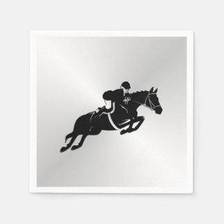 Guardanapo De Papel Cavalo equestre da ligação em ponte