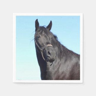 Guardanapo De Papel Cavalo preto e o céu azul