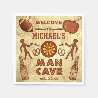 Guardanapo De Papel Caverna engraçada do homem com seu costume
