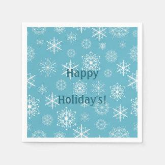 Guardanapo De Papel Celebração azul gelado dos feriados de inverno dos