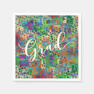 Guardanapo De Papel Celebração colorida abstrata da graduação dos