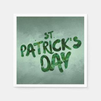 Guardanapo De Papel Céltico verde do irlandês do trevo do Dia de São
