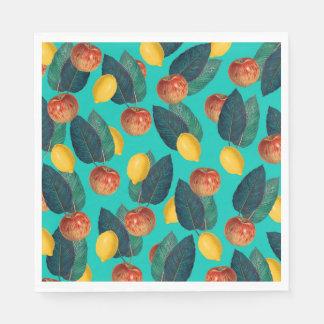 Guardanapo De Papel cerceta das maçãs e dos limões