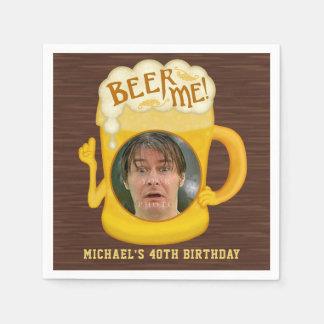Guardanapo De Papel Cerveja engraçada mim foto da festa de aniversário