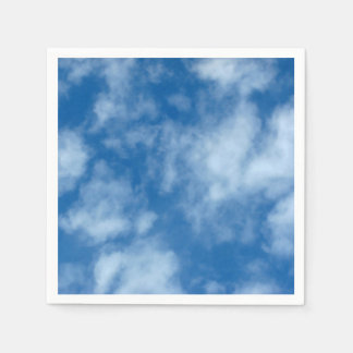 Guardanapo De Papel Céu azul com foto das nuvens