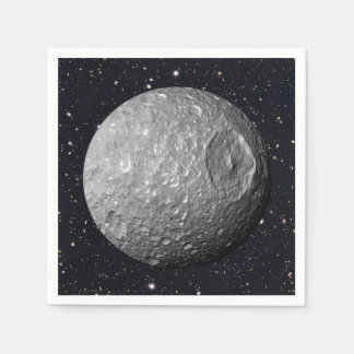 Guardanapo De Papel Céu estrelado de Mimas da lua de Saturn