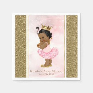 Guardanapo De Papel Chá cor-de-rosa do bebé da princesa Vintage Escuro