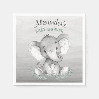 Guardanapo De Papel Chá de fraldas do elefante da aguarela