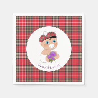 Guardanapo De Papel Chá de fraldas escocês do Tartan |Thistle