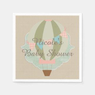 Guardanapo De Papel Chá de fraldas lindo do ponto morto do balão de ar