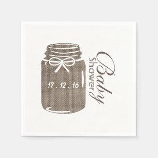 Guardanapo De Papel Chá de fraldas rústico do frasco de pedreiro de