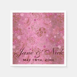 Guardanapo De Papel Chá de panela cor-de-rosa de Paisley