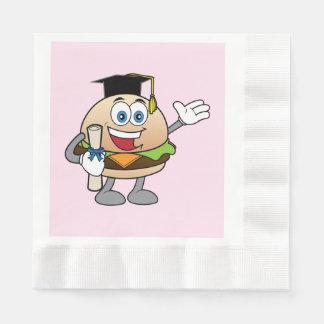 Guardanapo De Papel Cheeseburger com diploma e chapéu