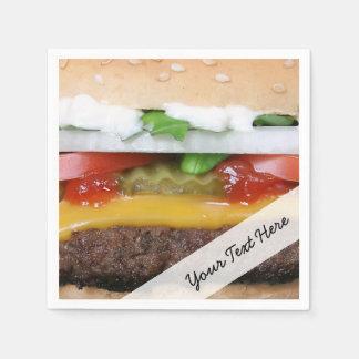 Guardanapo De Papel cheeseburger delicioso com fotografia das