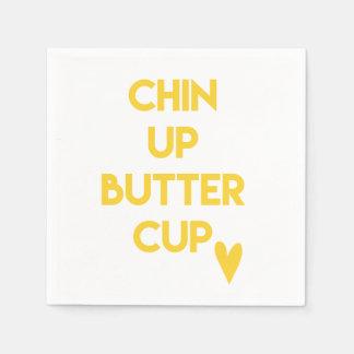 Guardanapo De Papel Chin acima de inspirador doce do botão de ouro  