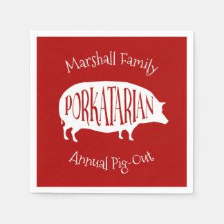 Guardanapo De Papel CHURRASCO anual do Porco-Para fora da reunião de