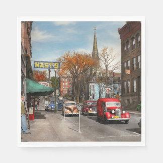 Guardanapo De Papel Cidade - Amsterdão NY - Amsterdão do centro 1941