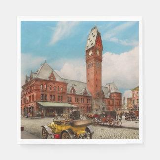 Guardanapo De Papel Cidade - mal de Chicago - estação 1910 de Dearborn