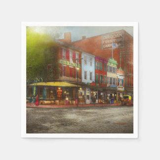 Guardanapo De Papel Cidade - Washington DC - vida na 7a rua 1912