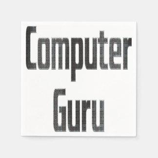 Guardanapo De Papel Cinza de Guru de computador