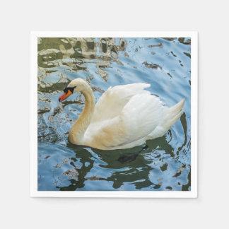 Guardanapo De Papel Cisne branca bonita
