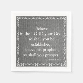 Guardanapo De Papel Citações da escritura da bíblia do antigo