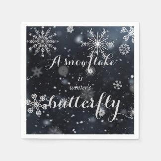 """Guardanapo De Papel Cite """"um floco de neve é a borboleta do inverno """""""