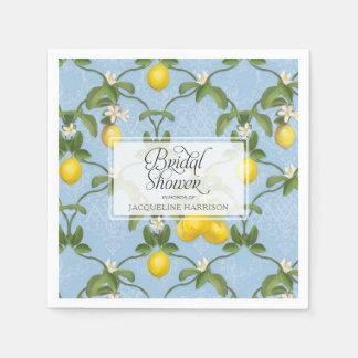 Guardanapo De Papel Citrino azul de Espalier do limão do chá de panela