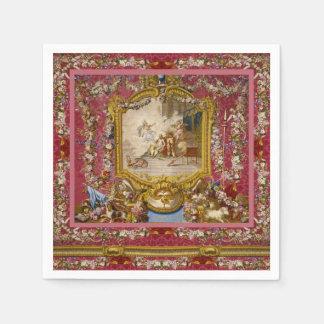 Guardanapo De Papel Clássico francês do Velho Mundo barroco feminino