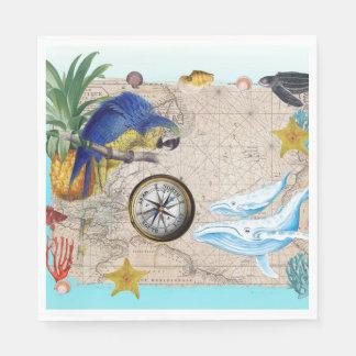 Guardanapo De Papel Colagem azul tropical
