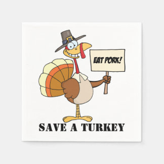 Guardanapo De Papel Coma economias da carne de porco uma Turquia