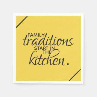 Guardanapo De Papel Começo das tradições da família na cozinha