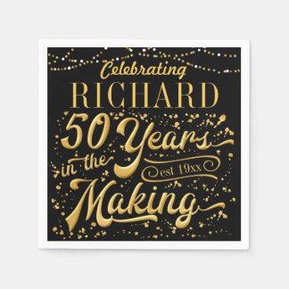 Guardanapo De Papel Comemorando 50 anos no fazer (50th aniversário)