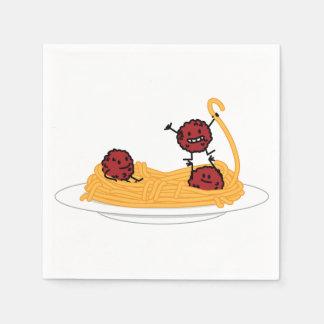 Guardanapo De Papel Comida do italiano dos macarronetes da massa dos