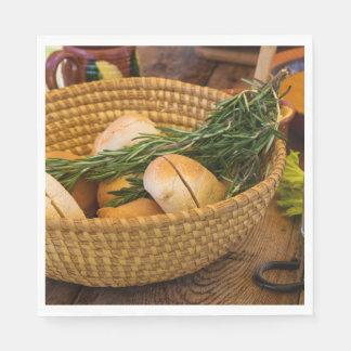 Guardanapo De Papel Comida - pão - Rolls e Rosemary