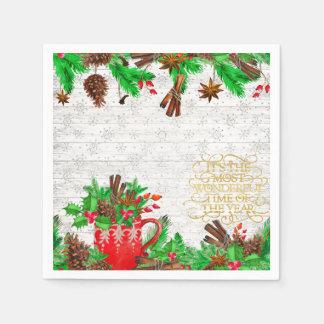 Guardanapo De Papel Cones do pinho do Natal