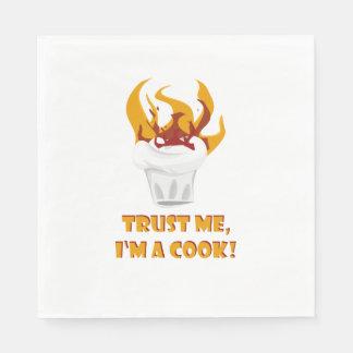 Guardanapo De Papel Confie que eu mim é um cozinheiro!