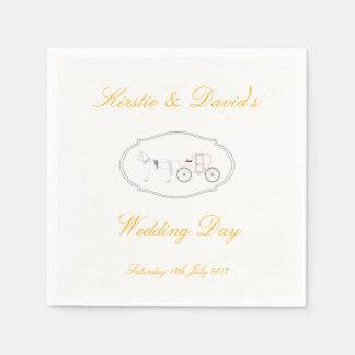 Guardanapo De Papel Copos de papel Wedding com o gráfico do cavalo &