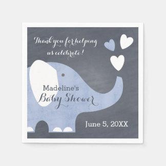 Guardanapo De Papel Coração azul do elefante