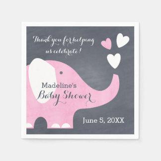 Guardanapo De Papel Coração do elefante cor-de-rosa