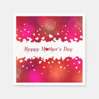 Guardanapo De Papel Corações felizes bonitos do dia das mães -