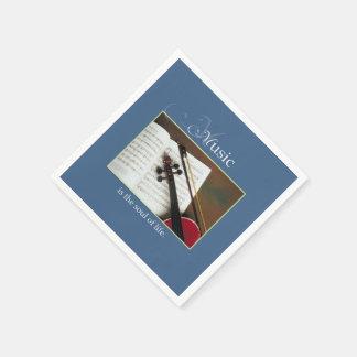 Guardanapo De Papel Cordas musicais, a alma da vida, tradicional