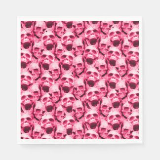 Guardanapo De Papel Crânios do rosa quente