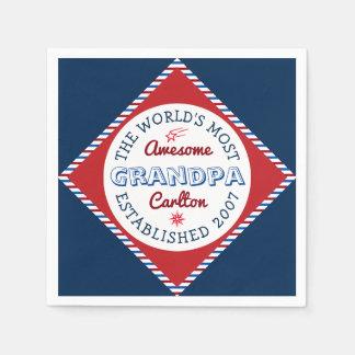 Guardanapo De Papel Criar o logotipo o mais impressionante do vovô do